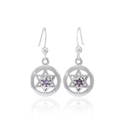 Star of David Gemstone Earrings TER1570 peterstone.