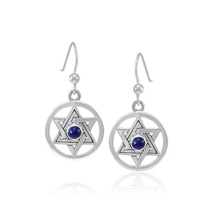 Star of David Gemstone Earrings TER1587 peterstone.