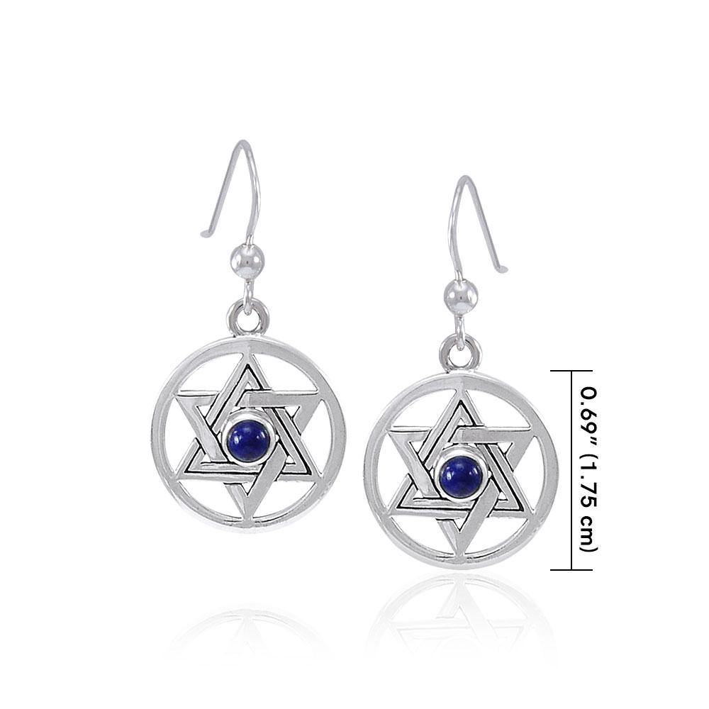 Star of David Gemstone Earrings TER1587