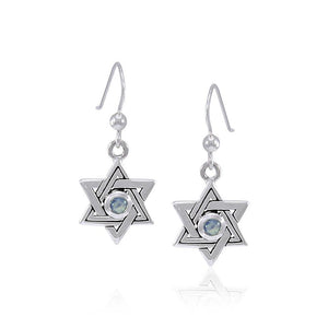 Star of David Silver Earrings TER1588 peterstone.