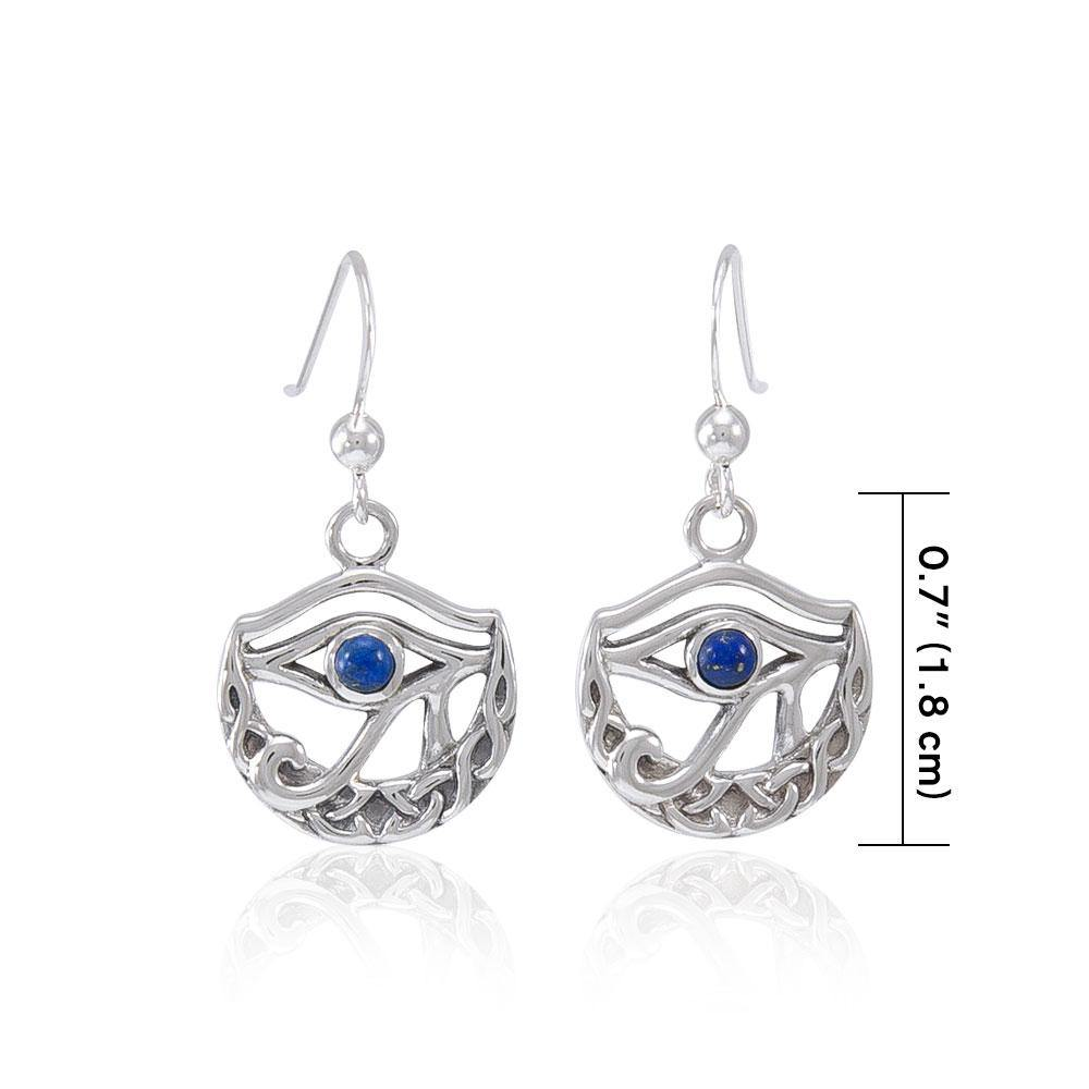 Eye of Horus Celtic Moon Earrings TER1600