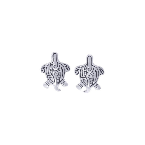 Aboriginal inspired Turtle Sterling Silver Post Earring TER1643