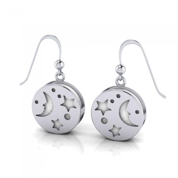 Moon Aromatherapy Sterling Silver Earrings
