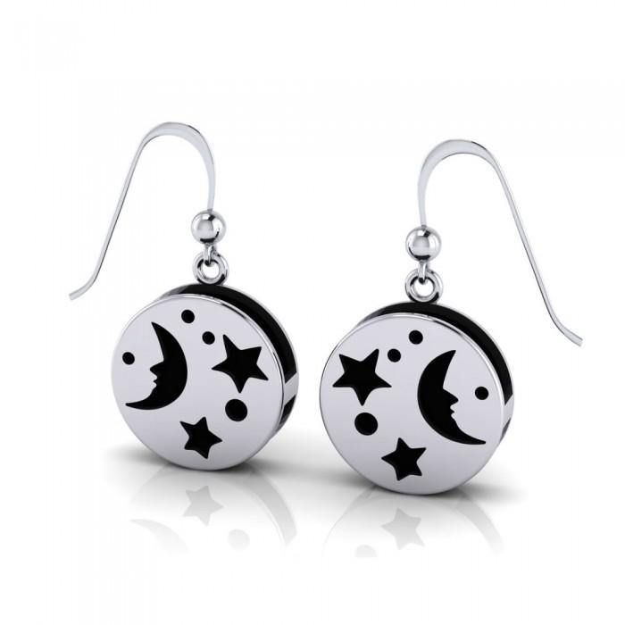Moon Aromatherapy Sterling Silver Earrings TER1667 peterstone.
