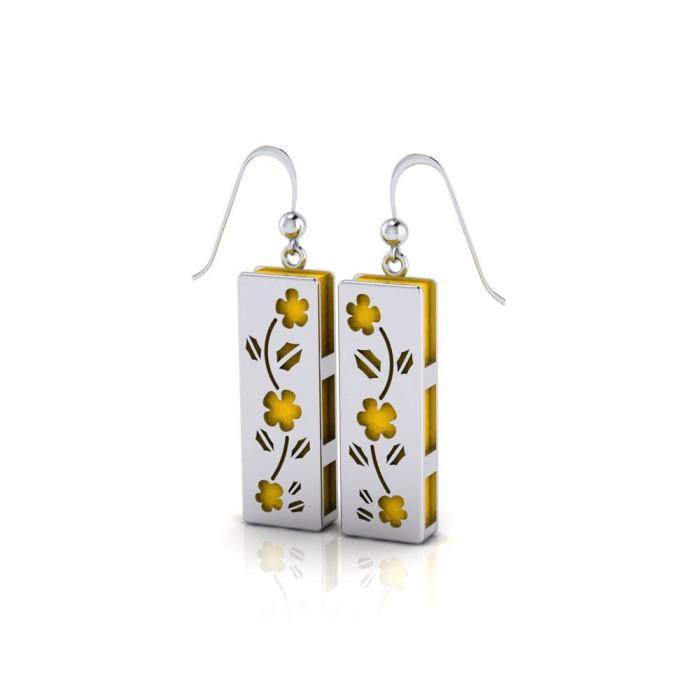 Flower Aromatherapy Sterling Silver Earrings