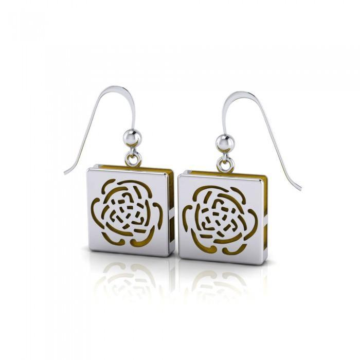 Rose Aromatherapy Sterling Silver Earrings TER1670 peterstone.