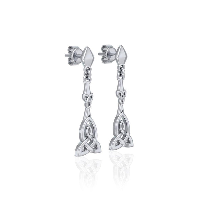 Celtic Trinity Knot Silver Post Earrings TER1678