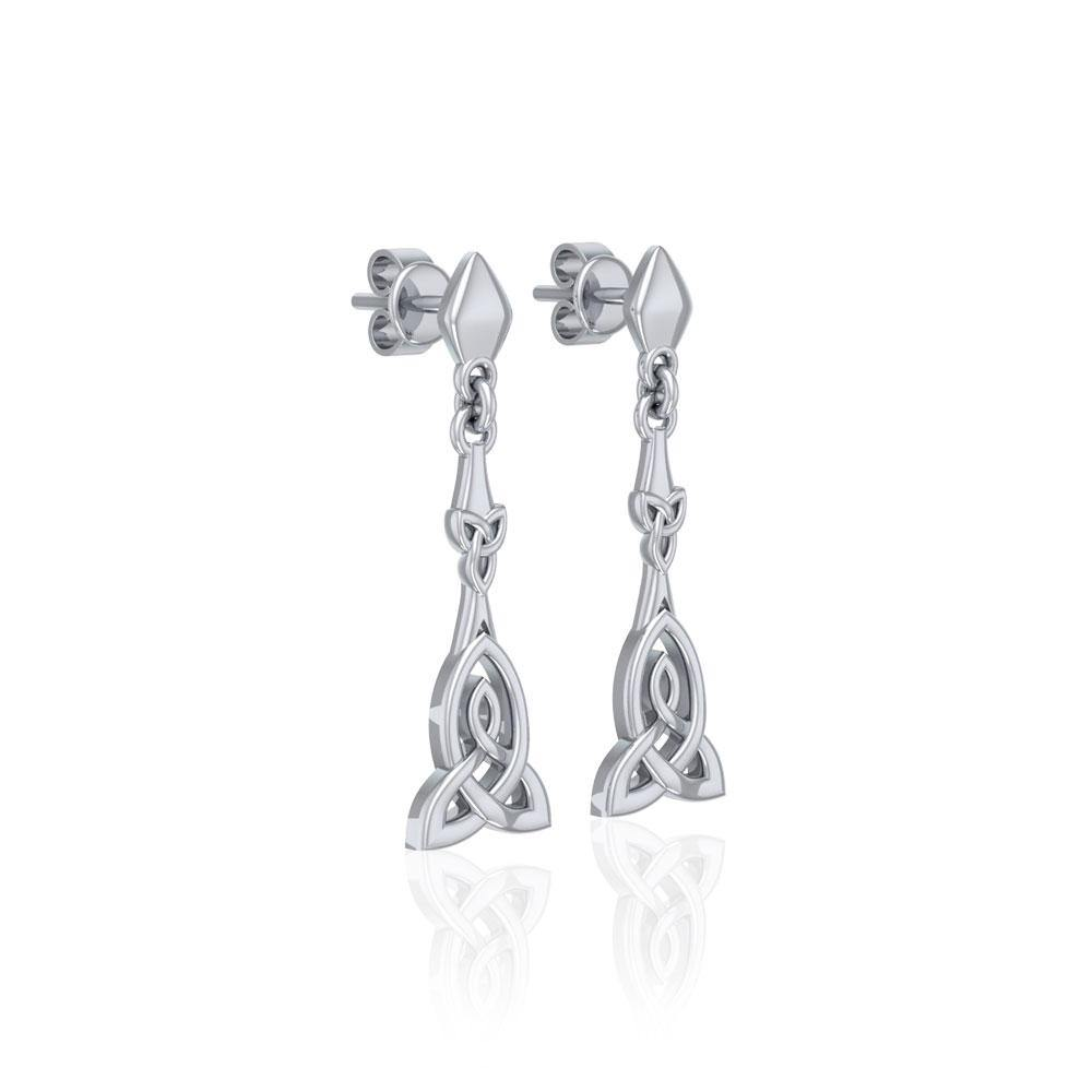 Celtic Trinity Knot Silver Post Earrings