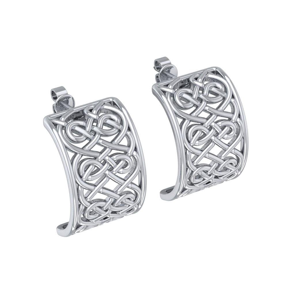 Celtic Knotwork Sterling Silver Post Earring TER1698