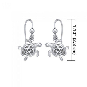 Sea Turtle with Star Silver Earrings TER1735