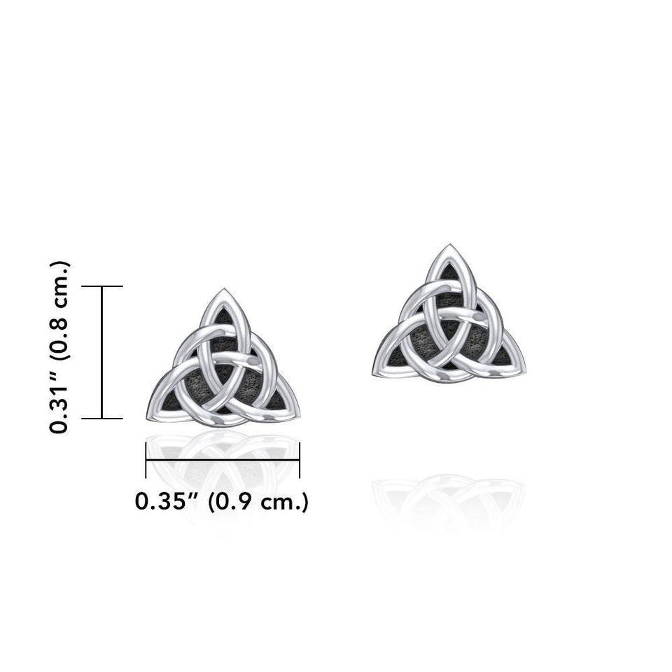 Small Triquetra Silver Post Earrings TER1814