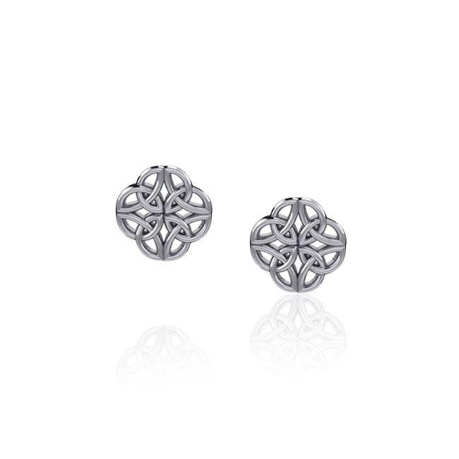 Celtic Knot Silver Post Earrings TER1815