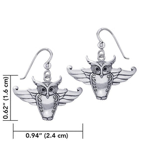 Cari Buziak Owl Silver Earrings TER1823