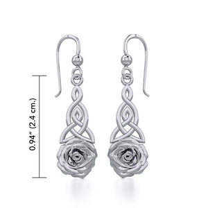 Celtic Trinity Rose Silver Earrings TER1851