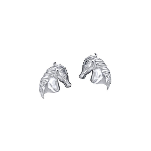 Equestrian Horse Silver Post Earrings TER1872 peterstone.