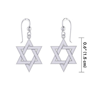 Star of David Silver Earrings TER1890 peterstone.