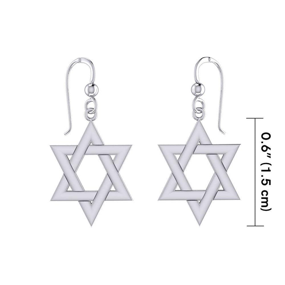 Star of David Silver Earrings TER1890