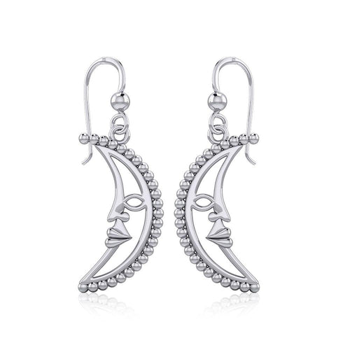 Crescent Moon Silver Earrings TER1904 peterstone.