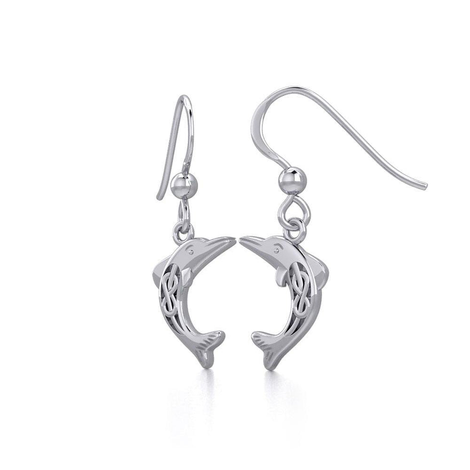 Celtic Joyful Dolphins Silver Earrings TER1924 Earrings