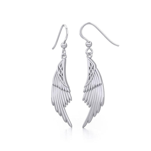 Celtic Angel Wing Silver Earrings TER1925 Earrings