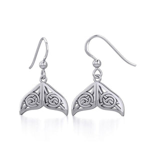 Celtic Knotwork Whale Tail Silver Earrings TER1929 Earrings
