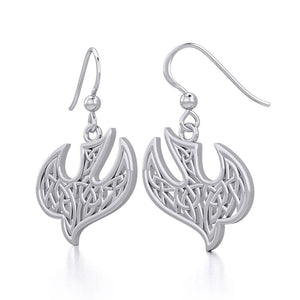Celtic Knotwork Bird Silver Earrings TER1932 Pendant