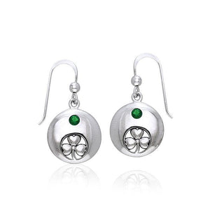 Celtic Irish Shamrock Silver Earrings TER216