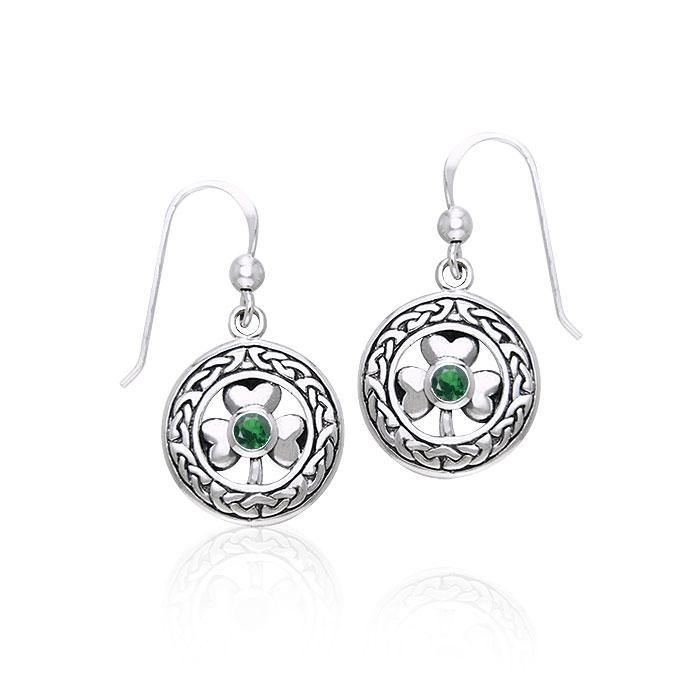 Celtic Knot Shamrock Earrings TER220