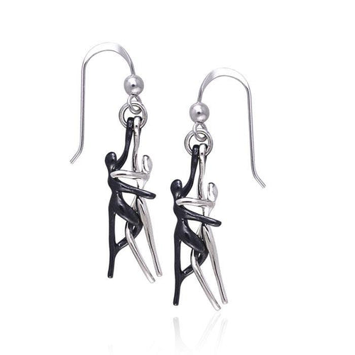 Yin Yang Lovers Silver Earrings TER232