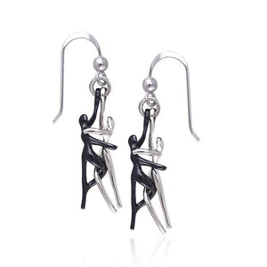 Yin Yang Lovers Silver Earrings TER232 Earrings