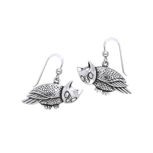 Owl Earrings TER370 peterstone.