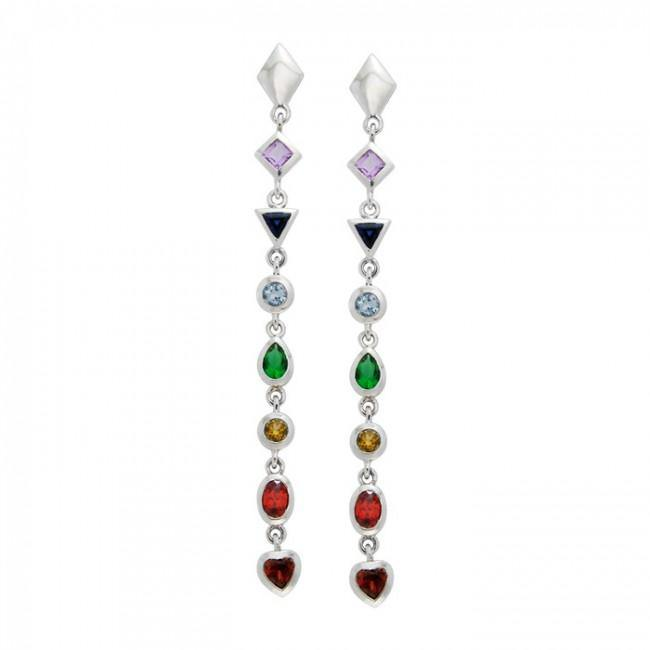 Silver Chakra Earrings TER415