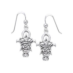 Wizardry Symbol Silver Earrings by Oberon Zell TER465 peterstone.