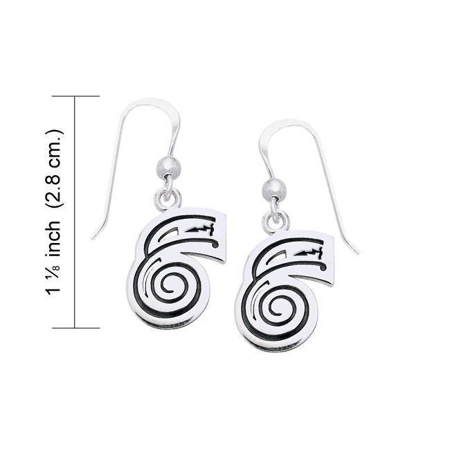 Reiki Symbol Silver Earrings TER473