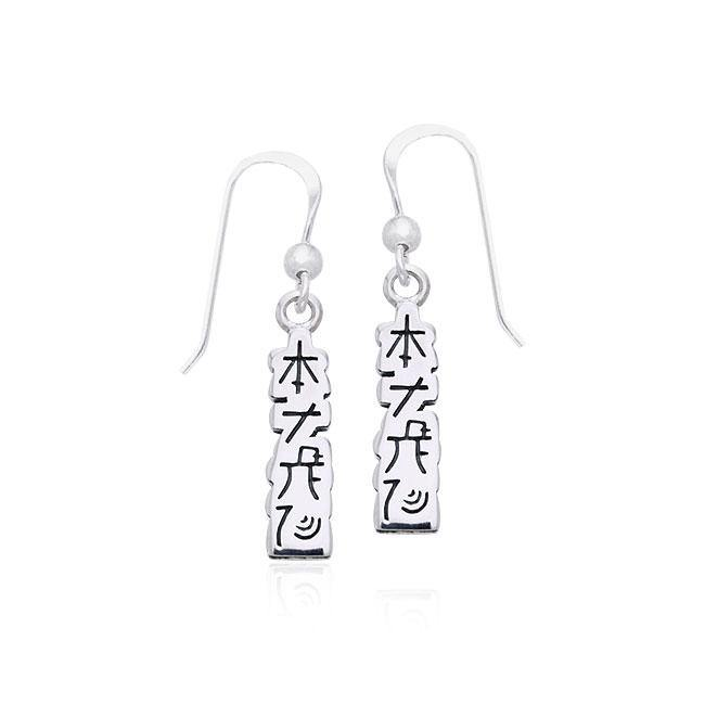 Reiki Symbol Silver Earrings TER477