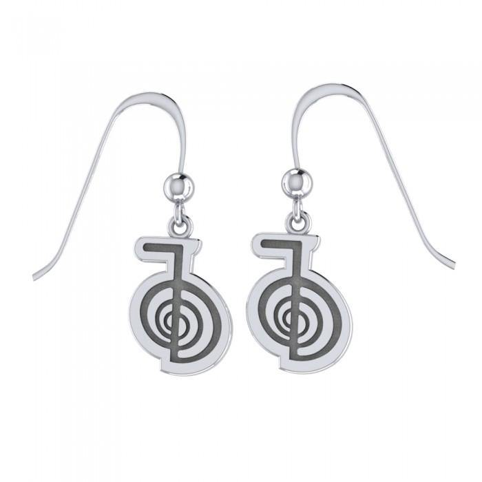 Reiki Spiral Silver Earrings TER478