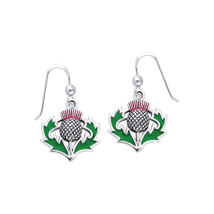 TER486 Alba Thistle Silver Earrings