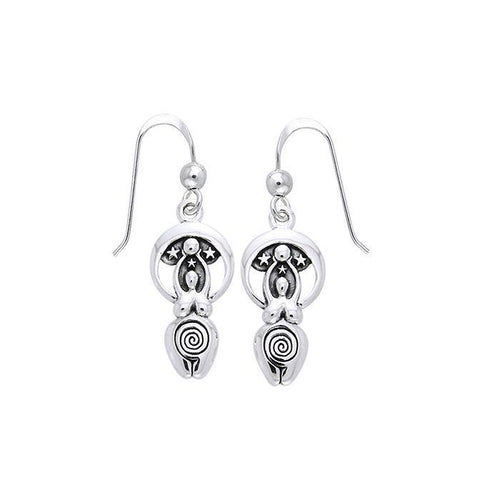 Spiral Moon Goddess Earrings TER488