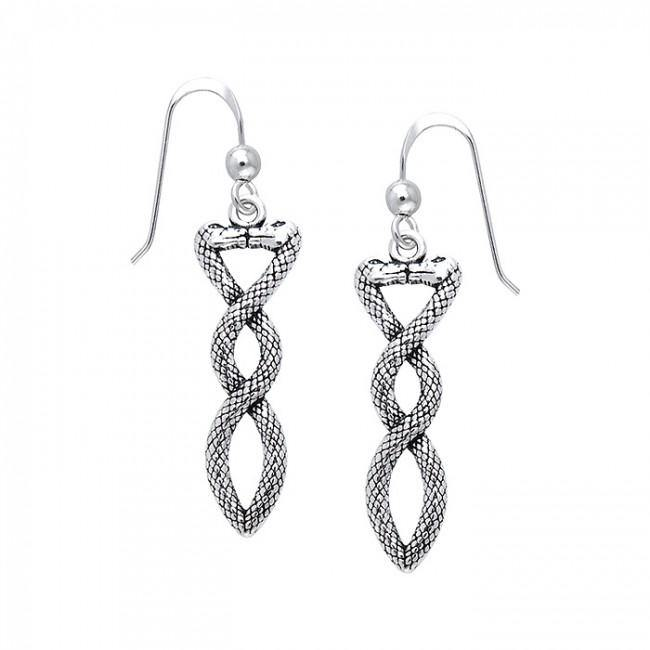 Celtic Snake Earrings TER509 peterstone.