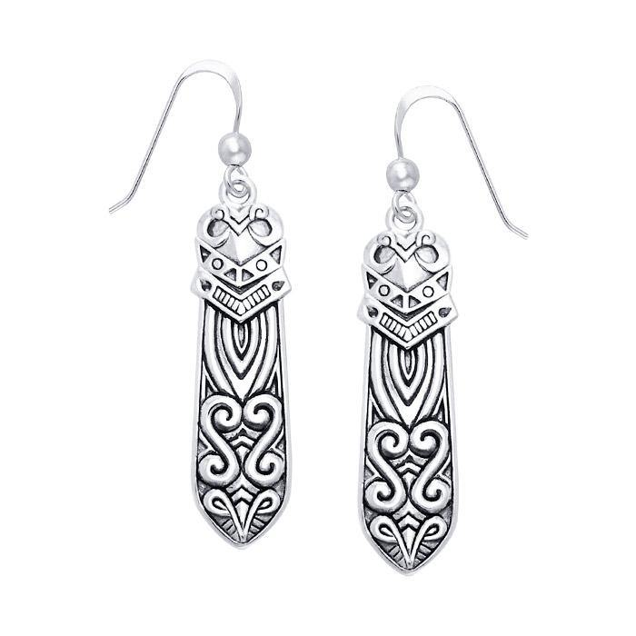 Celtic Maori Silver Earrings TER521