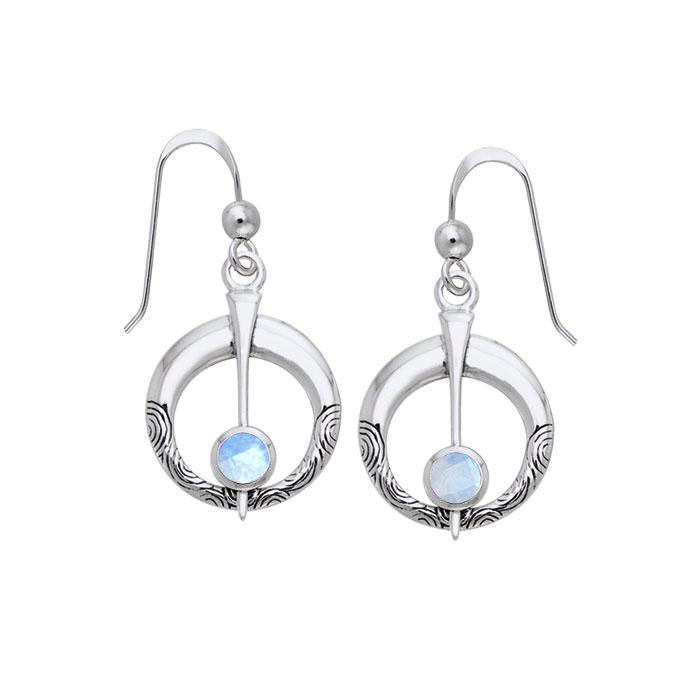 Danu Silver Thistle Earrings with Gems TER545