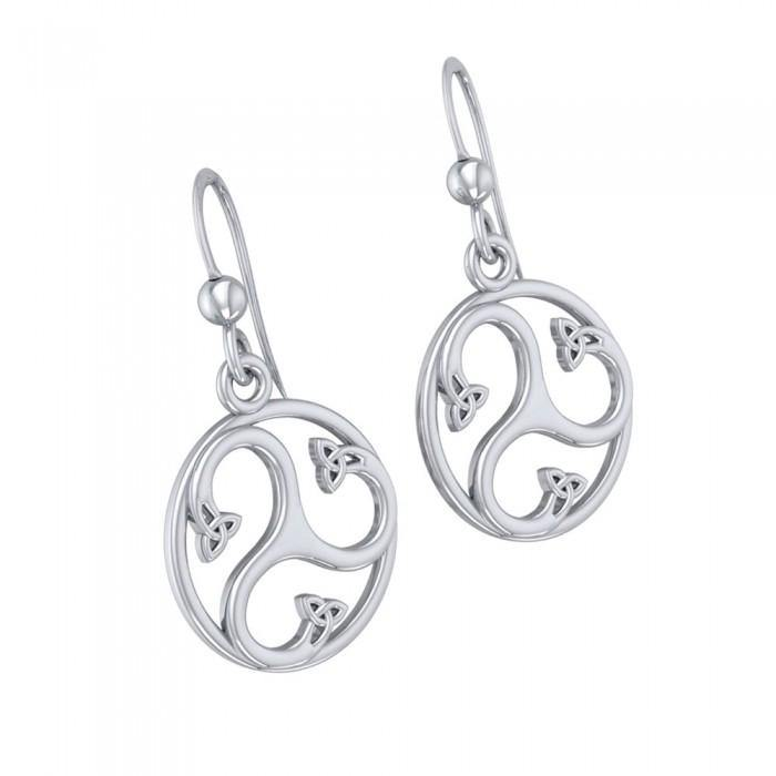 Find your spirituality within Silver Triquetra Dangle Earrings TER568 peterstone.