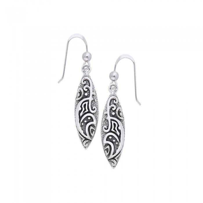 Celtic Maori Silver Earrings TER579 peterstone.