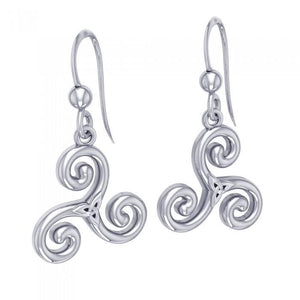 Celtic Triskelion Trinity Knot Earrings TER709 peterstone.