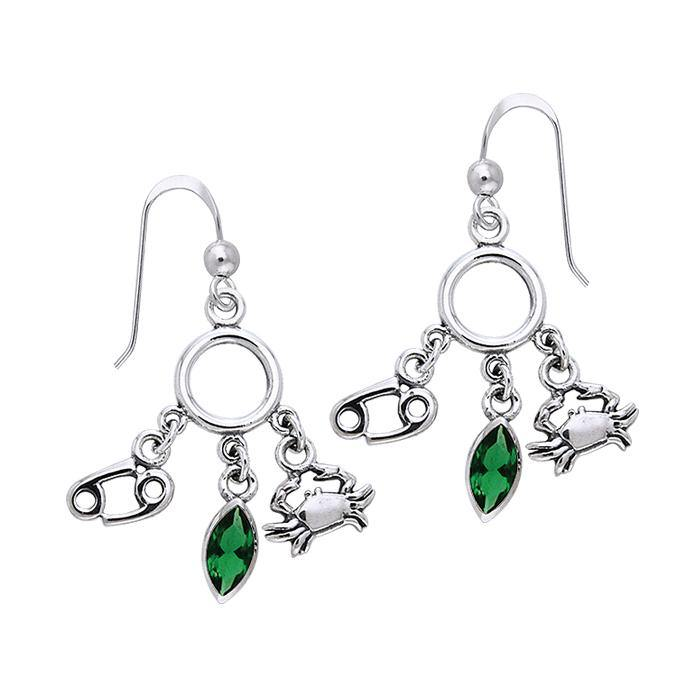 Cancer Silver Astrology Earrings TER887
