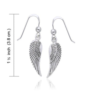 Angel Wing Silver Earrings TER927