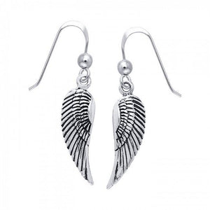 Angel Wing Silver Earrings TER927 peterstone.