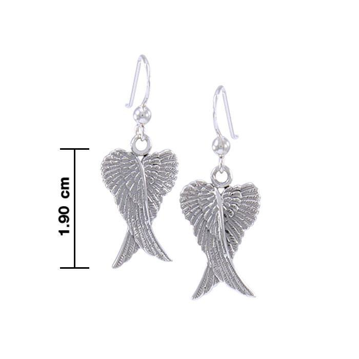 Angel Wings Silver Earrings TER928