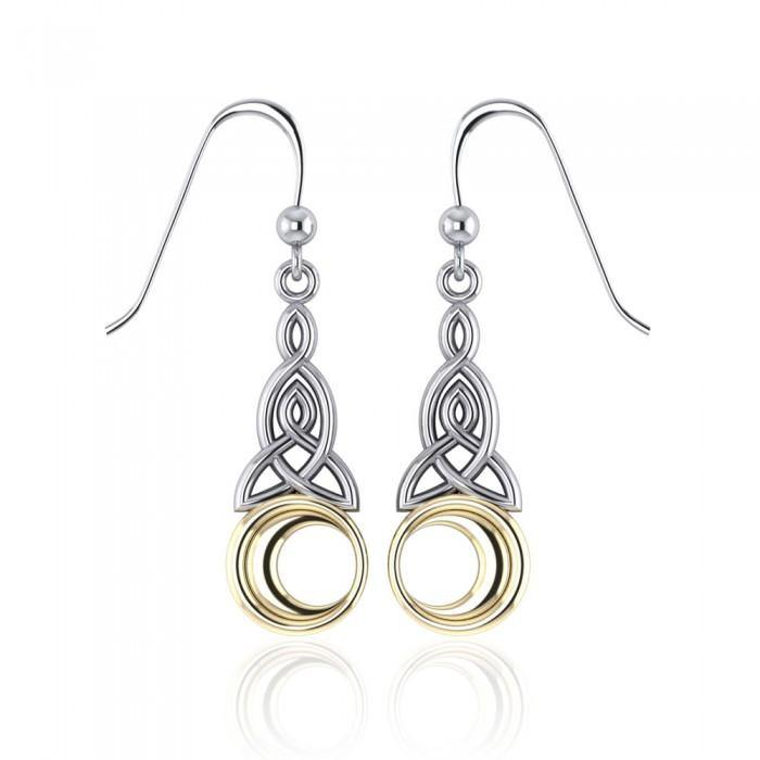 Celtic Knot Moon Earrings TEV2565 peterstone.