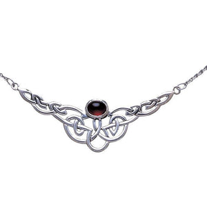 Celtic Knotwork Silver Necklace TN019